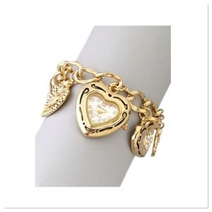 Heart Charm Watch Bracelet